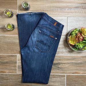 7 For All Mankind Brett Dark Blue Jeans Size 28